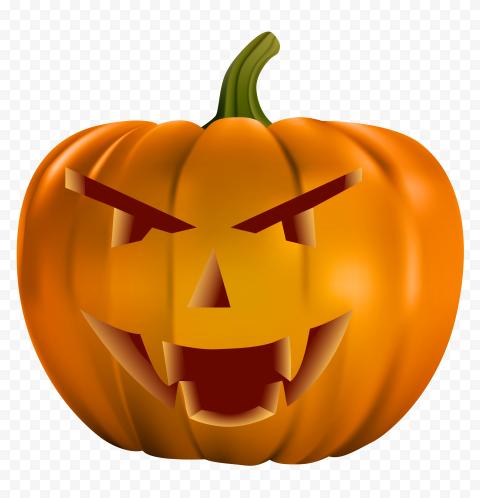 Smiling Halloween Pumpkin Illustration Happy Face