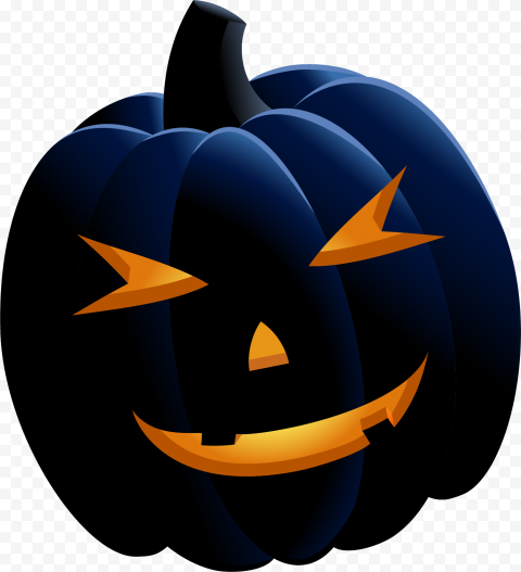 Black Happy Smiling Halloween Pumpkin Illustration