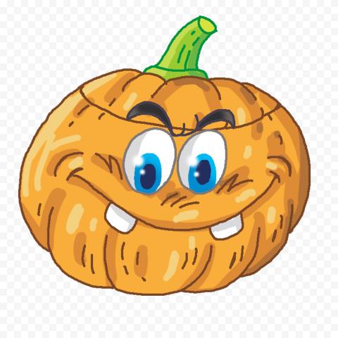 Funny Happy Cartoon Halloween Pumpkin Vector
