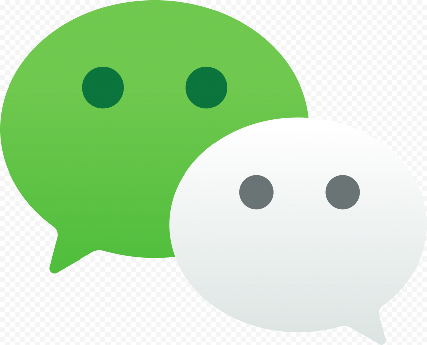WeChat China App Message Bubble Green & White