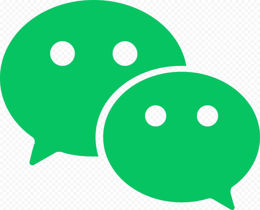 WeChat China App Messages Bubbles Green Vector Icon