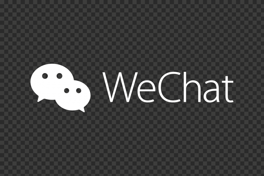 White WeChat China Chat App Logo