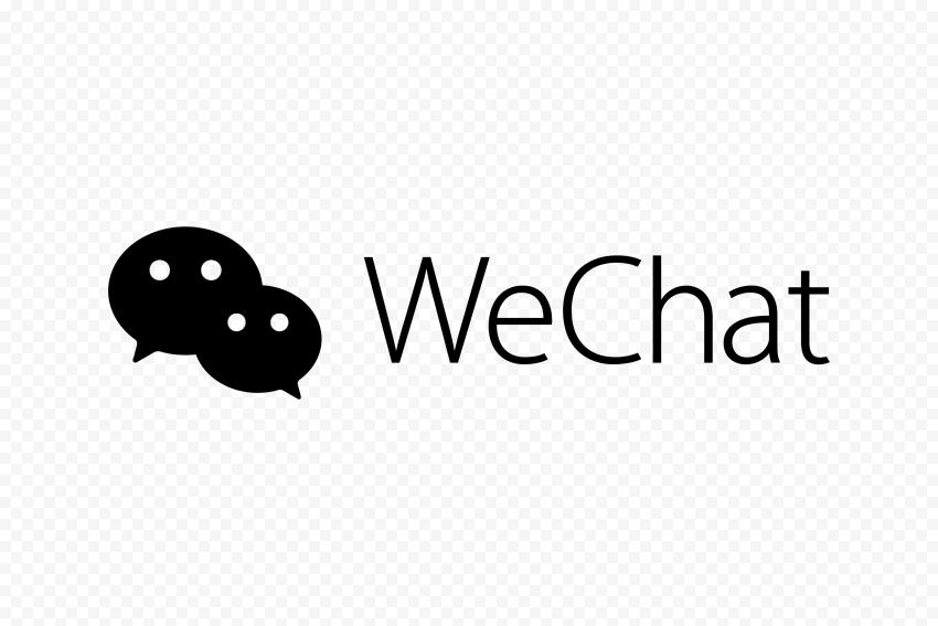 Black WeChat China Chat App Logo