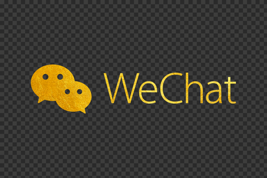 Gold WeChat China Chat App Logo