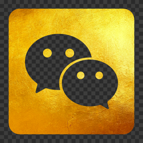 Golden Gold WeChat China App Square Logo Icon