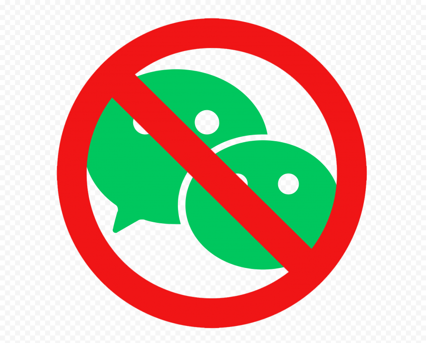 WeChat Chat App Ban Banned Sign