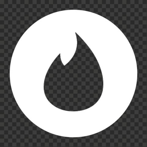 Android White Round Tinder Logo Symbol