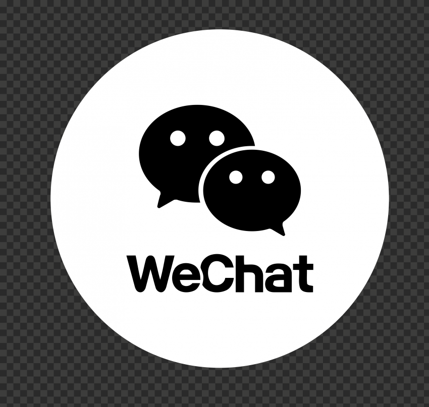 Round Black And White WeChat App Logo Icon