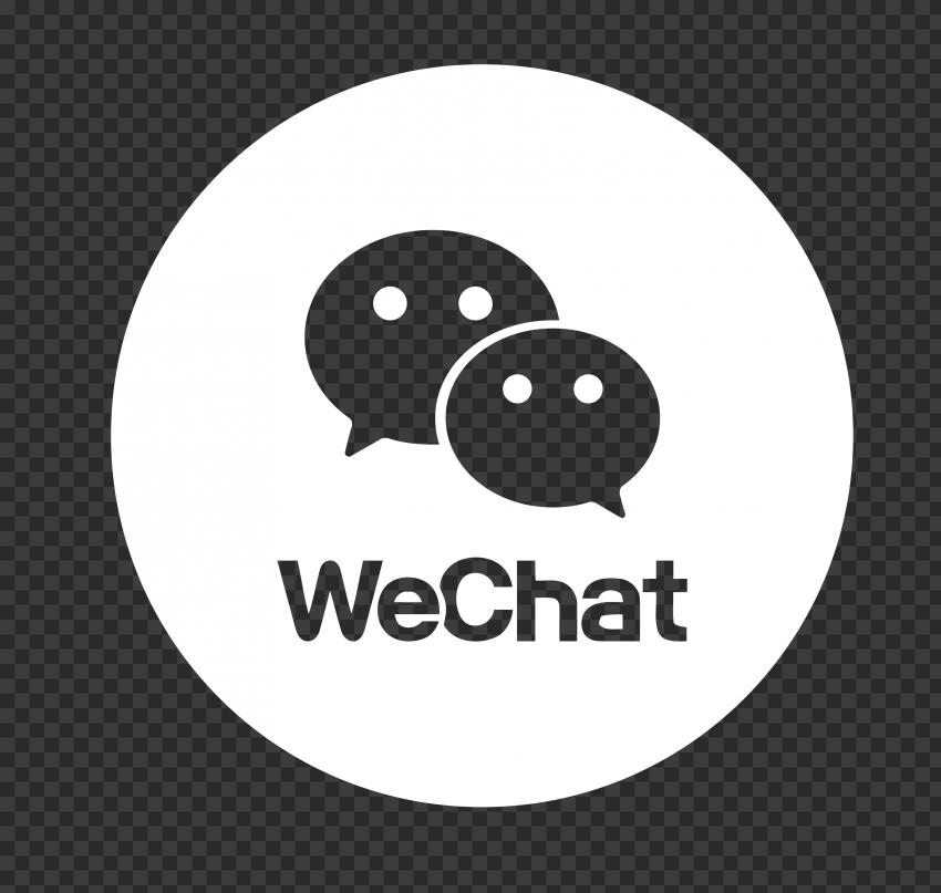 Round White WeChat App Logo Icon