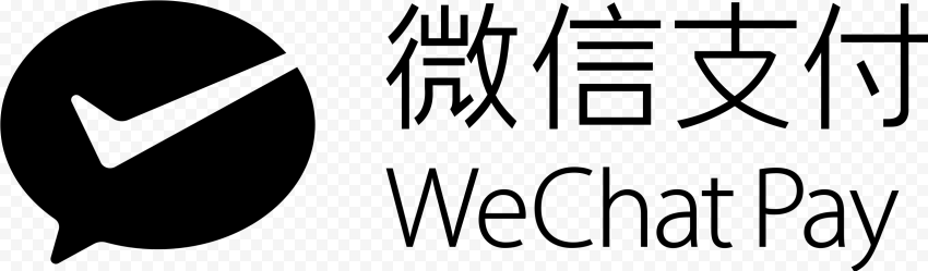 Black WeChat Pay Chinese Text Logo Icon