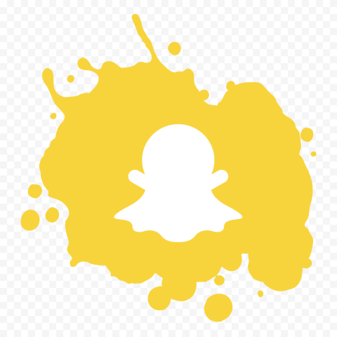 Snapchat Yellow Paint Splash Contains Ghost Icon
