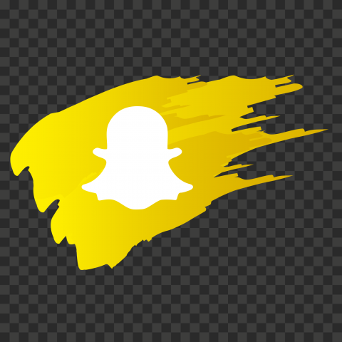 HD Snapchat Social Media Logo Icon Brush Style