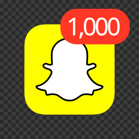 Snapchat Square App Icon With 1000 Notifications
