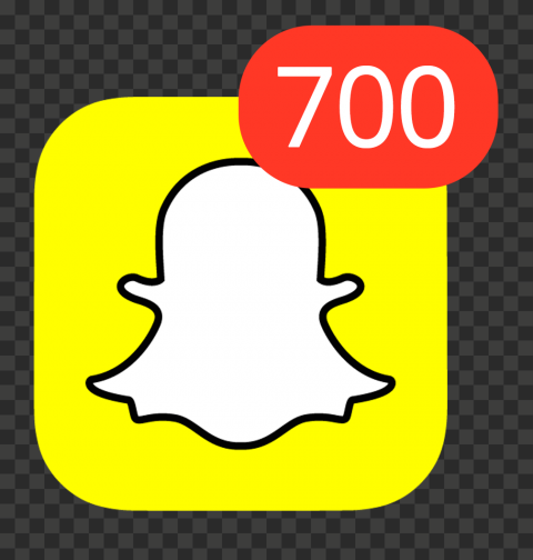 Snapchat Square App Icon With 700 Notifications PNG