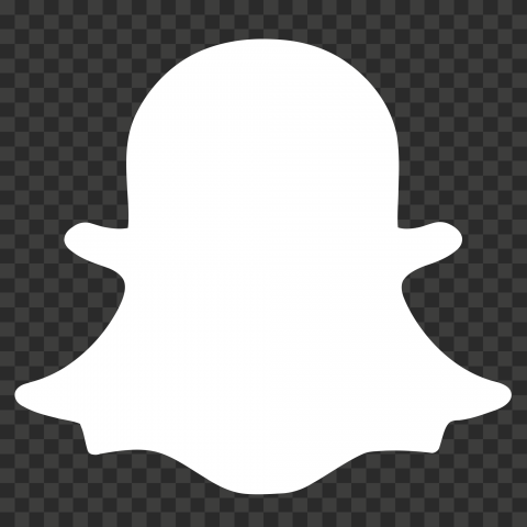 HD White Snapchat Ghost Logo Icon Symbol PNG