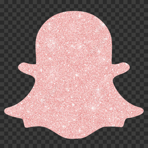 HD Rose Gold Glitter Snapchat Ghost Logo Icon Symbol PNG
