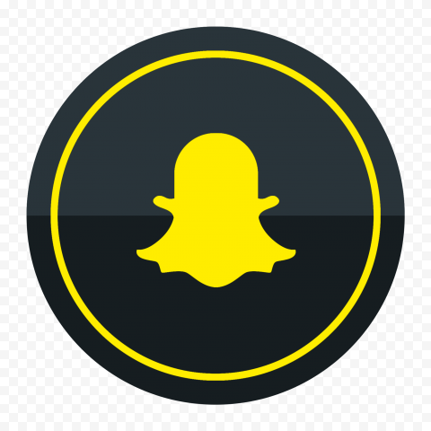 HD Snapchat Black & Yellow Round Logo Icon PNG