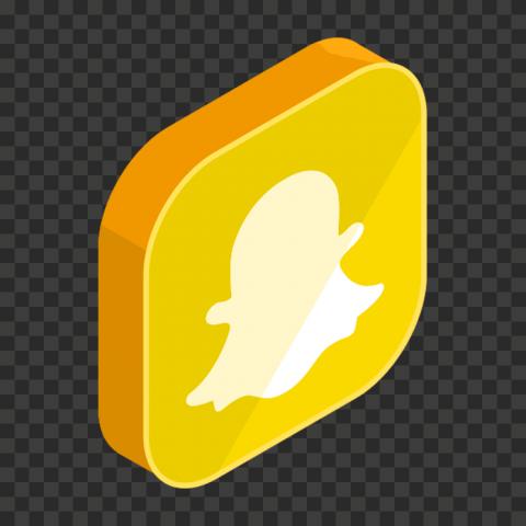 3D Snapchat Square App Logo Icon PNG Image