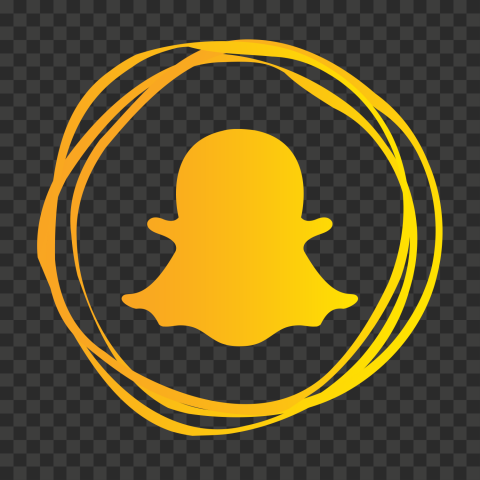 HD Snapchat Yellow Circles Contains Ghost Silhouette PNG Image
