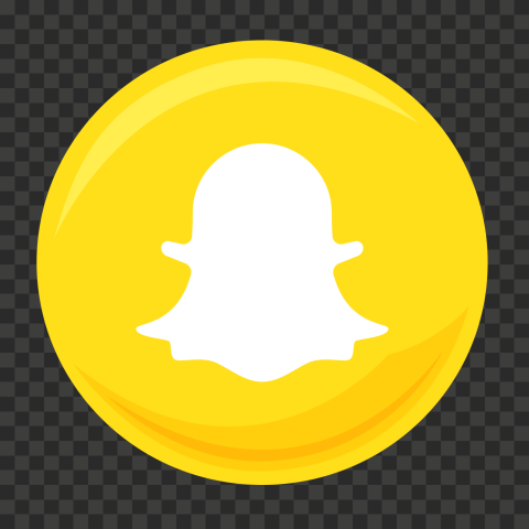 HD Round Vector Snapchat Logo Icon PNG Image
