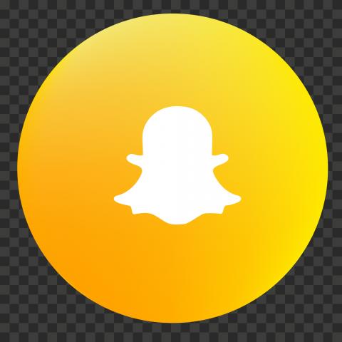 HD Circular Snapchat Yellow Logo Icon PNG Image