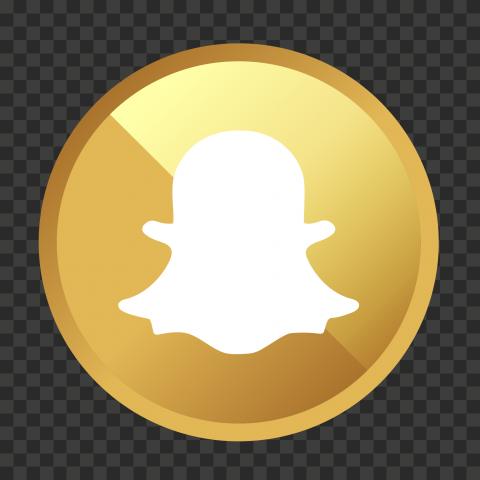 HD Golden Round Circle Snapchat Logo Icon PNG Image