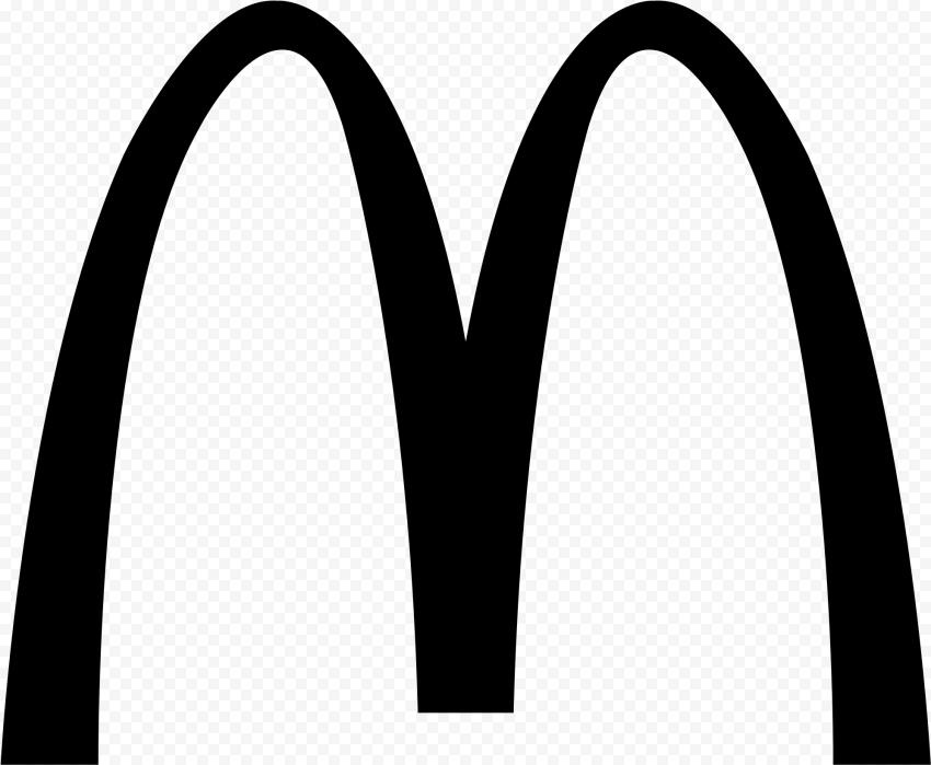 HD Black McDonald McDonalds M Logo Symbol PNG Image