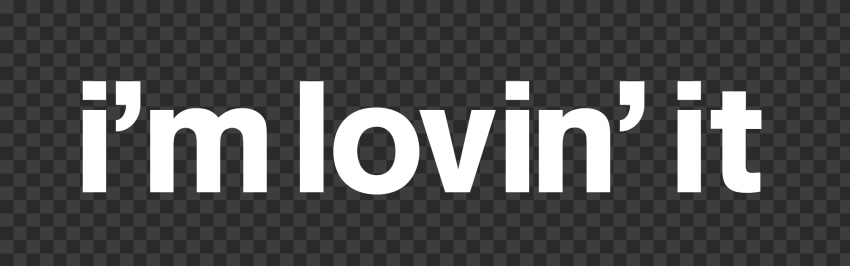 HD White I'm Lovin'It McDonald McDonald's Logo Text PNG Image