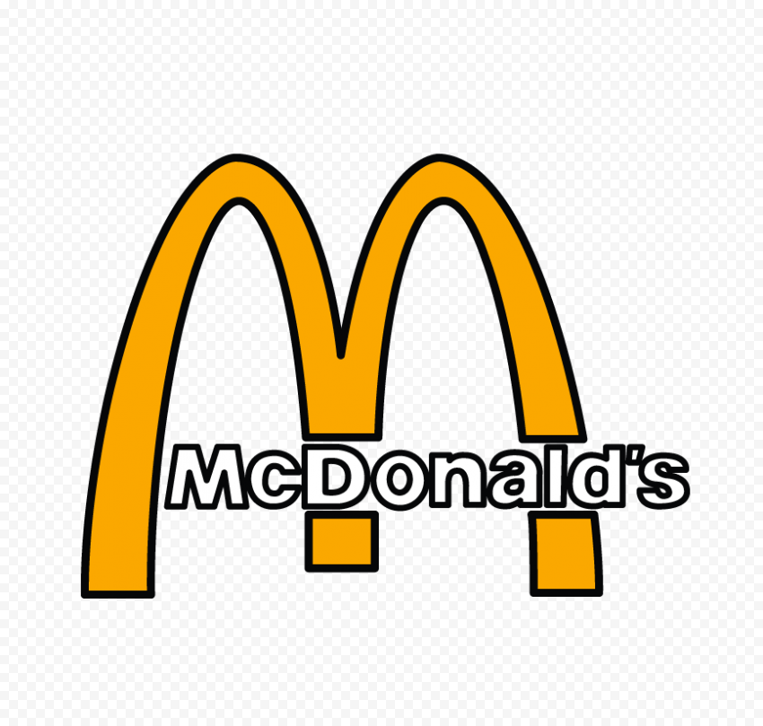 McDonald's Logo Drawing Clipart PNG Image
