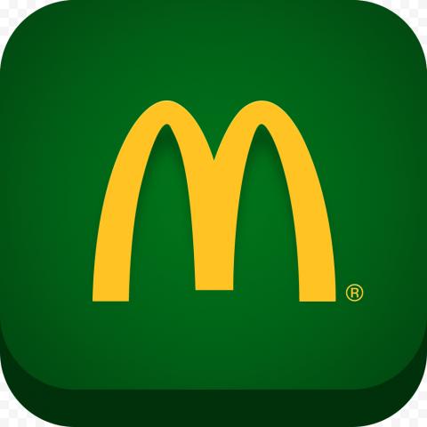 HD McDonald's Green Square App Logo Icon PNG Image