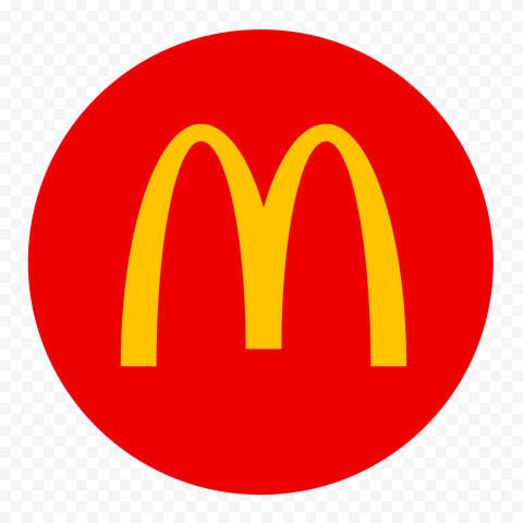 HD McDonalds Red Round Circular Circle Logo Icon PNG Image