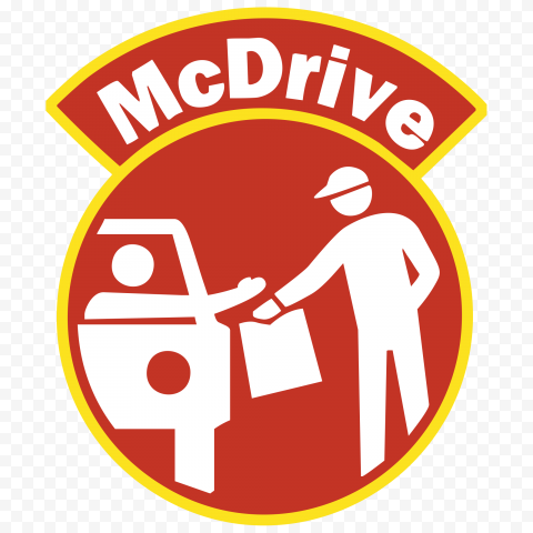 HD McDonalds McDrive Vector Logo Sign Icon PNG Image
