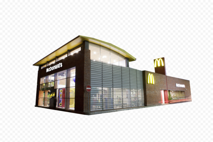 Real McDonald's Restaurant PNG Image