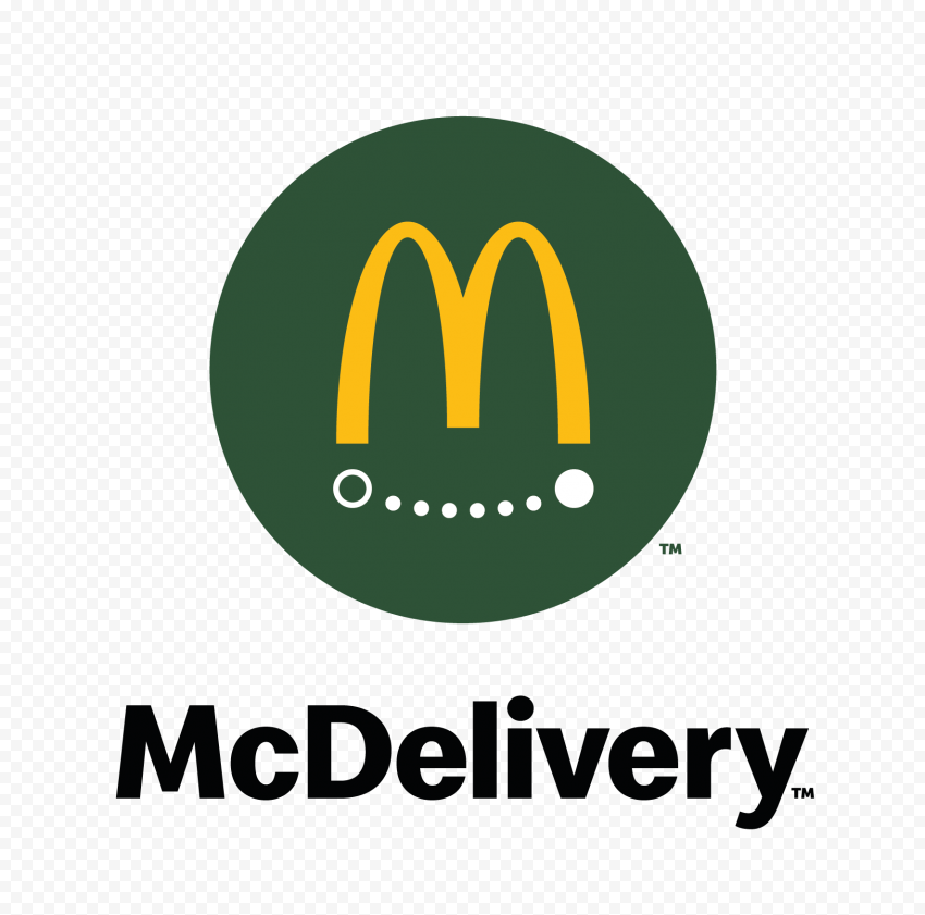 HD McDonald's McDelivery Green Logo Sign PNG Image
