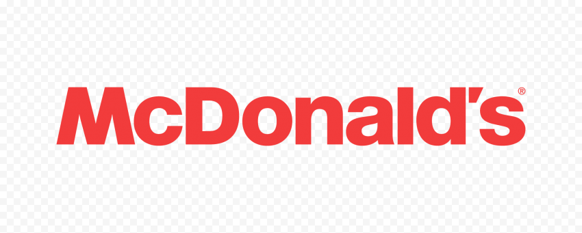 HD Red McDonalds Official Text Brand Logo PNG Image