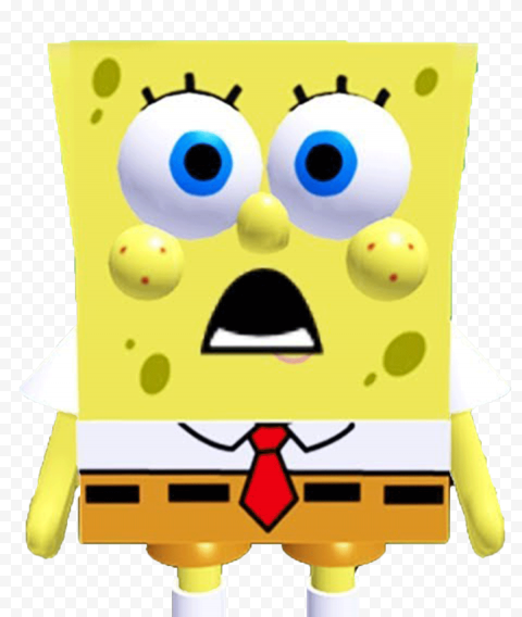 HD Spongebob Roblox Front View Charactrer Transparent PNG