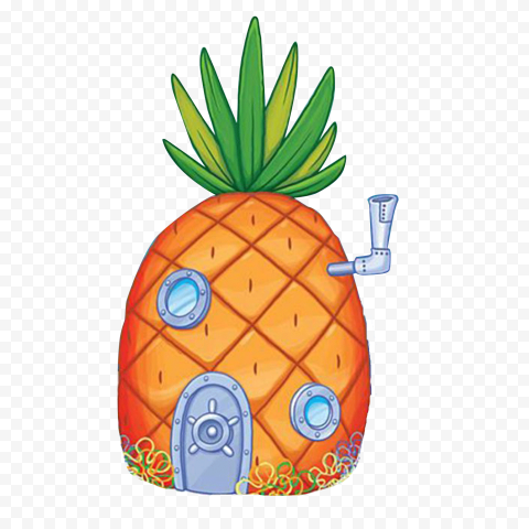 HD Spongebob Pineapple House Transparent PNG