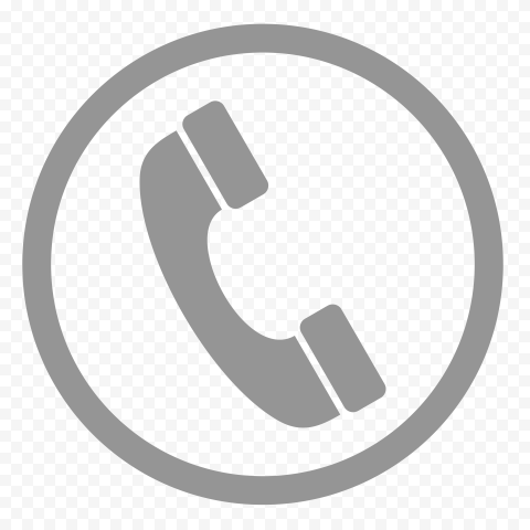 HD Gray Round Circle Phone Icon PNG