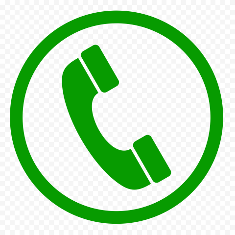 HD Green Round Circle Phone Icon PNG