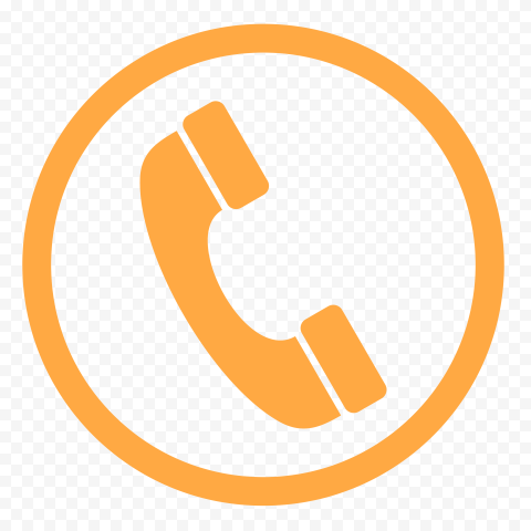 HD Orange Round Circle Phone Icon PNG