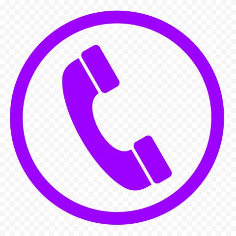 HD Purple Round Circle Phone Icon PNG