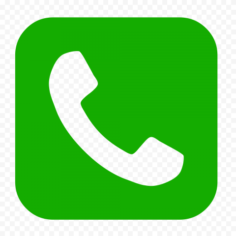 HD Green Square Phone Icon PNG