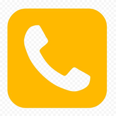 HD Orange Square Phone Icon PNG