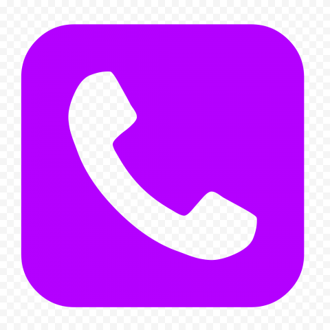 HD Purple Square Phone Icon PNG
