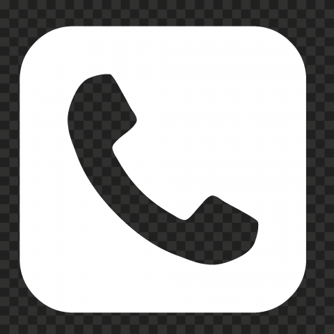 HD White Square Phone Icon PNG