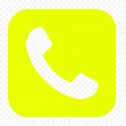 HD Yellow Square Phone Icon PNG