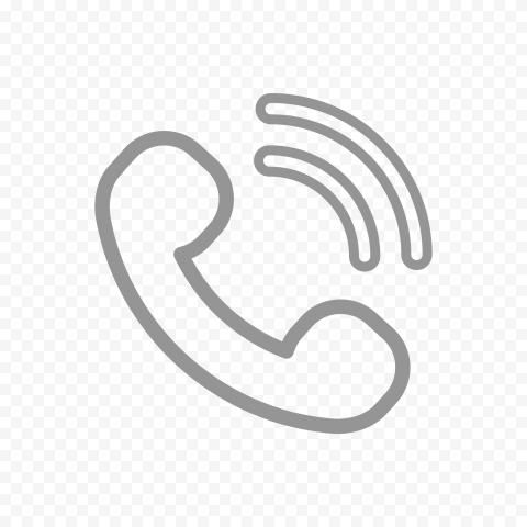 HD Grey Outline Phone Icon PNG