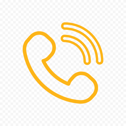 HD Orange Outline Phone Icon PNG