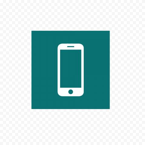 HD Blue Ocean Phone Square Logo Transparent PNG