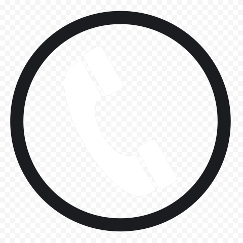HD Black And White Round Circle Phone Icon PNG